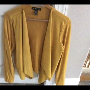 rayon-nylon faux suede front panel sweater